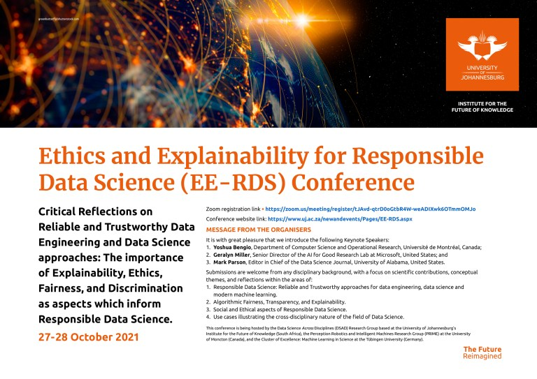 Ethics and Explainability for Responsible Data Science (EE-RDS)