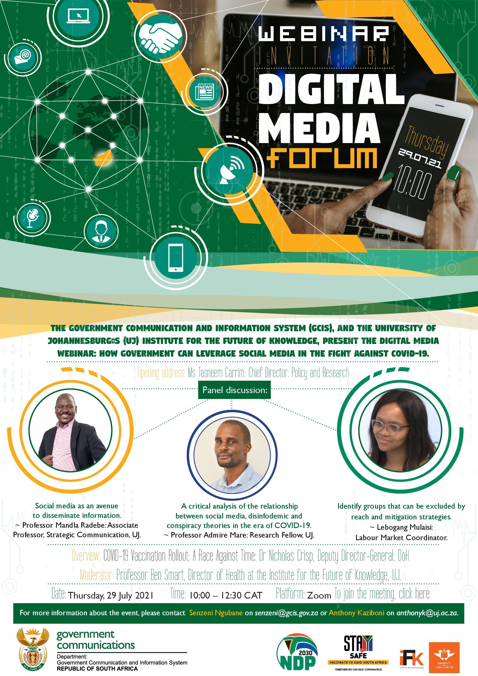 Virtual Digital Forum: How the Government of South Africa can Leverage Social Media in the fight against Covid-19