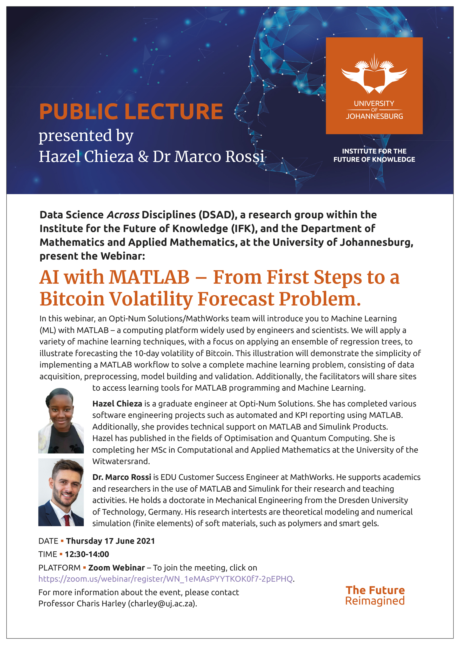Webinar: AI with MATLAB – From First Steps to a Bitcoin Volatility Forecast Problem