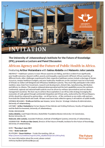 Public Lecture and Panel Discussion: African Agency and the Future of Public Health in Africa